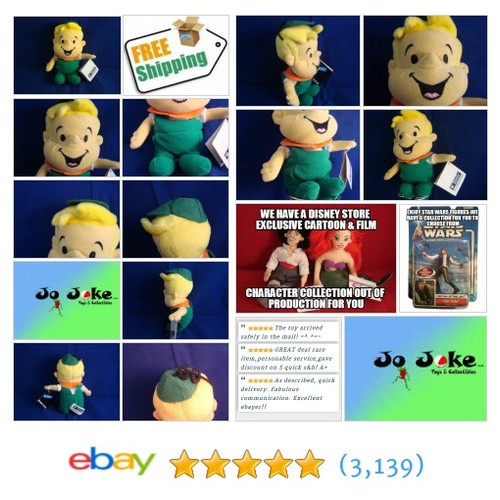 WARNER BROS STUDIO STORE-ELROY JETSON-BEAN PLUSH-7 IN-HAT-OVERALL-SMILE-NEW/TAGS | eBay #WARNERBROSSTUDIOSTORE #etsy #PromoteEbay #PictureVideo @SharePicVideo