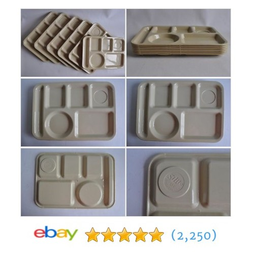 Silite Tray Plastic Compartment Serving School Lunch Divided #ebay @sellcperry  #etsy #PromoteEbay #PictureVideo @SharePicVideo