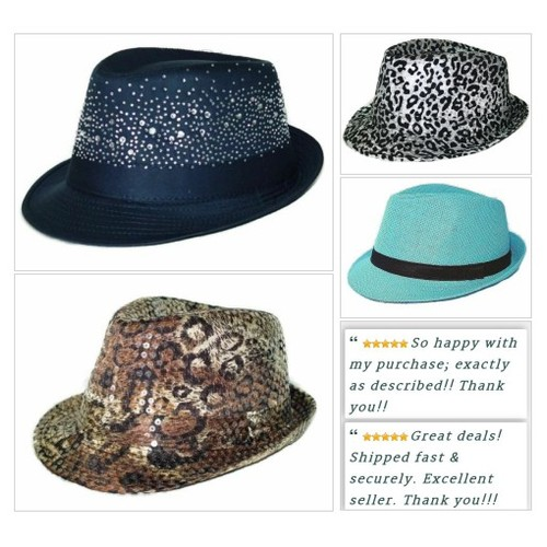 Try one of our classy Fedora Hats! We have them at Shar's Boutique! #Cap #Hat #WomensAccessory #Fedora #ebay #PromoteEbay #PictureVideo @SharePicVideo