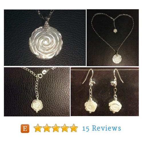 Carved Mother of Pearl Rose Pendant and #etsy @pinkyandrexa https://www.SharePicVideo.com/?ref=PostPicVideoToTwitter-pinkyandrexa #etsy #PromoteEtsy #PictureVideo @SharePicVideo