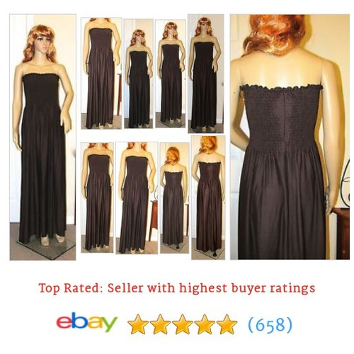 Hypnotik Solid Brown Smocked Maxi Dress Strapless Polyester Blend #ebay @coffeelovergirl  #etsy #PromoteEbay #PictureVideo @SharePicVideo