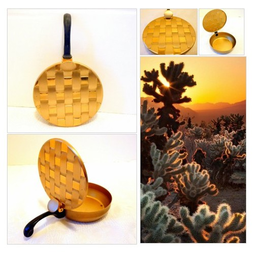 Vintage Gold Tone Basket Weave Silent Butler Ashtray Brushed Aluminum Mid Century Personal Ashtray  #etsyspecialt #integritytt #SpecialTGIF #Specialtoo  #SpecialTParty       @Flow_Rts @ArmoryRTs @Relay_RTs #etsy #PromoteEtsy #PictureVideo @SharePicVideo
