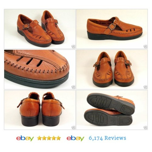 Womens Size 6.5 DEXTER Brown Leather Mary Jane Shoes #Flat Comfort LN #Dexter #Oxford #etsy #PromoteEbay #PictureVideo @SharePicVideo