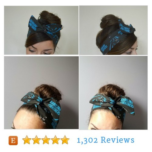 Carolina Panthers headband @JleeJewels  #etsy #PromoteEtsy #PictureVideo @SharePicVideo