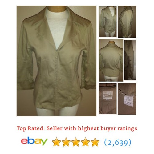 Cache Tan Fitted Blazer Womens Sz 10 Hook & Eye Closure Jacket #ebay @castydeb  #etsy #PromoteEbay #PictureVideo @SharePicVideo