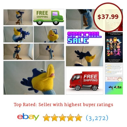 WARNER BROS STORE-ROAD RUNNER BEAN PLUSH-10 INCH-BIG FEET AND TAIL--NEW/TAG-1998 | eBay #WARNERBROSSTUDIOSTORE #etsy #PromoteEbay #PictureVideo @SharePicVideo