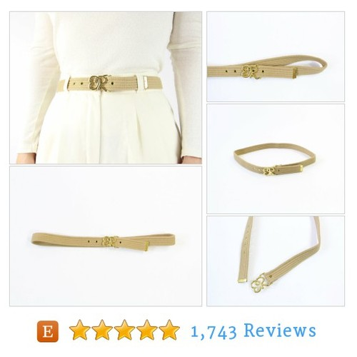 VINTAGE Oscar de la Renta Belt 1980s Tan #etsy @wearitwelletsy  #etsy #PromoteEtsy #PictureVideo @SharePicVideo