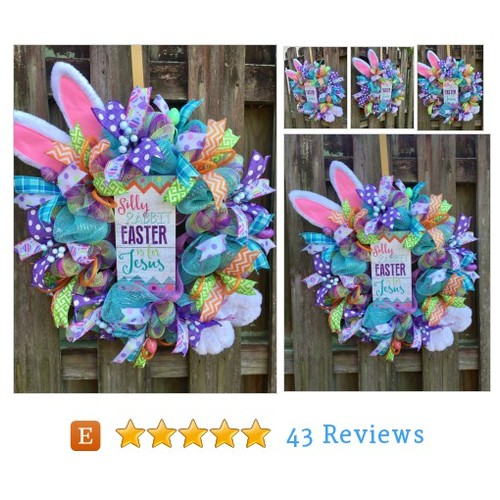 Easter Wreath, Easter Mesh Wreath, Easter #etsy @alanapresents https://www.SharePicVideo.com/?ref=PostPicVideoToTwitter-alanapresents #etsy #PromoteEtsy #PictureVideo @SharePicVideo