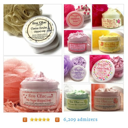 Whipped Soap, Scrubs Whipped Soap, Scrubs  by EcoChicSoaps Etsy shop #Scrub #WhippedSoap #etsy #PromoteEtsy #PictureVideo @SharePicVideo