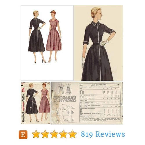 40s 50s Shirt Dress Simplicity 3510 Sewing #etsy @adelebeeann  #etsy #PromoteEtsy #PictureVideo @SharePicVideo