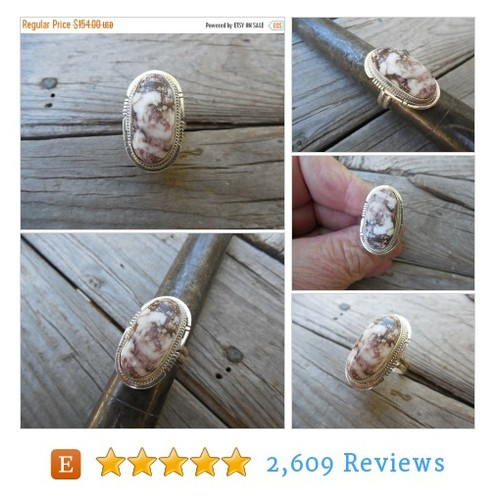 ON SALE Wild Horse Magnesite #ring handmade #etsy @billyrebs  #etsy #PromoteEtsy #PictureVideo @SharePicVideo