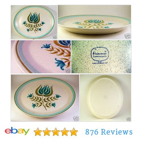 "#Franciscan Tulip Time 14"" Platter Pennsylvania Dutch Turquoise White #China #Dinnerware #etsy #PromoteEbay #PictureVideo @SharePicVideo"