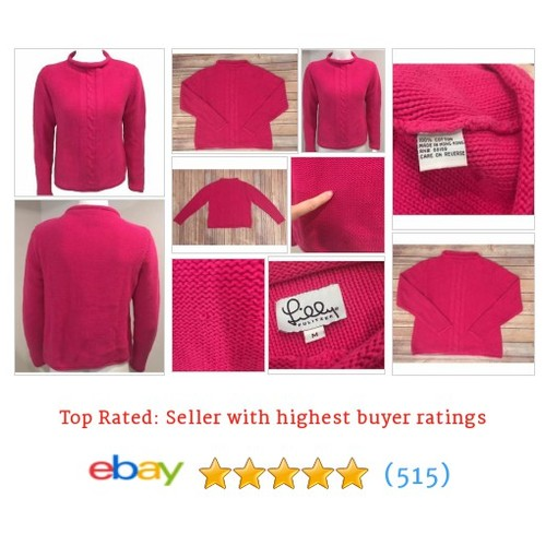 Lilly Pulitzer Medium Cable Knit Long Sleeve Hot Pink Magenta Sweater #ebay @christine649264  #etsy #PromoteEbay #PictureVideo @SharePicVideo