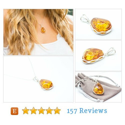 Golden Amber Necklace #etsy @balticbeauty925  #etsy #PromoteEtsy #PictureVideo @SharePicVideo