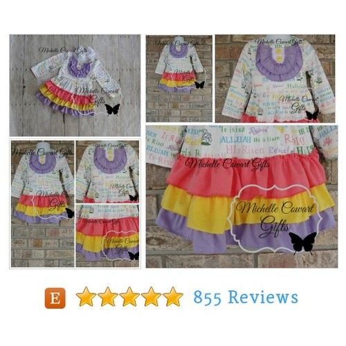 Easter Dress, Easter Outfit, Ruffle Dress, #etsy @micowart  #etsy #PromoteEtsy #PictureVideo @SharePicVideo