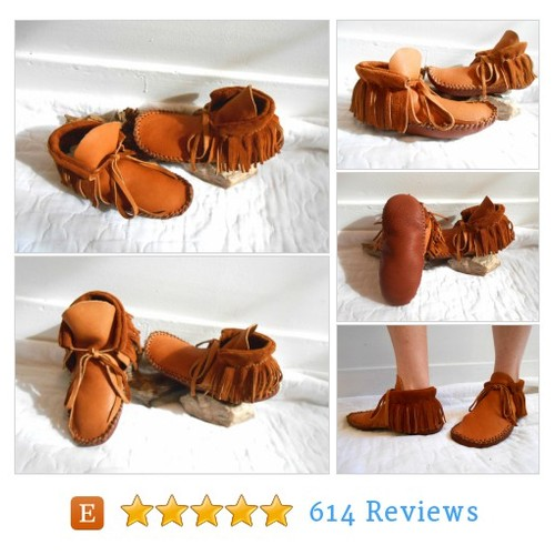 Handmade Moccasins, Short Mocs with Fringe, #etsy @katyjuneful  #etsy #PromoteEtsy #PictureVideo @SharePicVideo