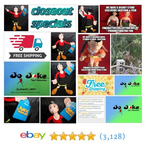 CLOSEOUT SPECIAL POPEYE-OLIVE OYL-9 INCH-POSEABLE-APPLAUSE-RED TOP-BLACK DRESS-BOOTS-NEW WITH TAG | eBay #APPLAUSE FREE SHIPPING #etsy #PromoteEbay #PictureVideo @SharePicVideo