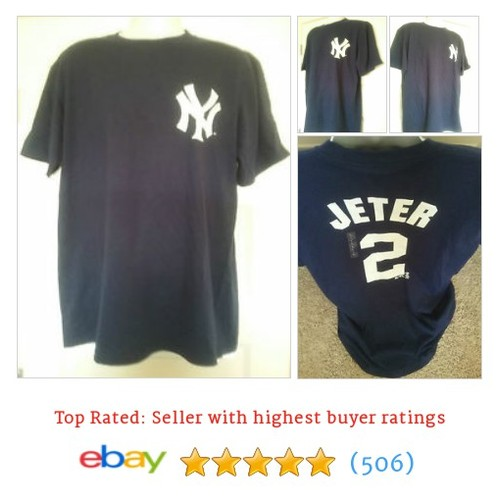 NWT New York Yankees #2 Jeter T Shirt from Majestic - Size L #ebay @5150forsports  #etsy #PromoteEbay #PictureVideo @SharePicVideo