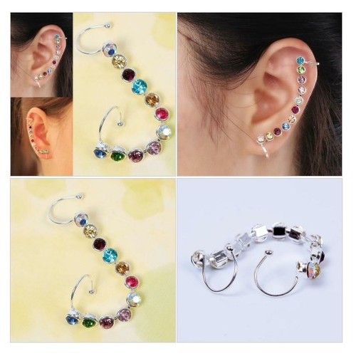 1PC Charm Bling Crystal Ear Cuff @pluto99com #shopify  #socialselling #PromoteStore #PictureVideo @SharePicVideo