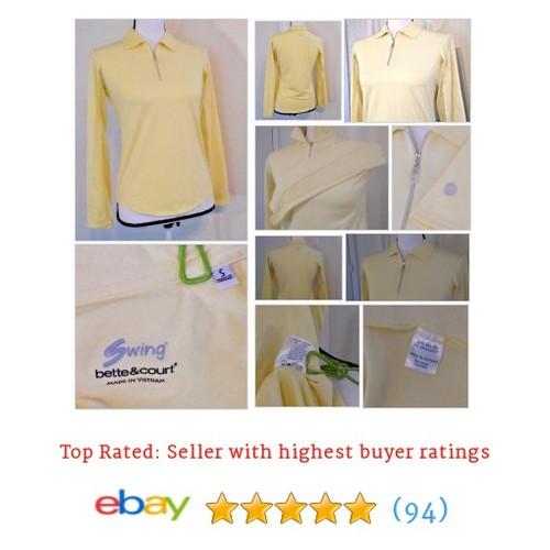#Bette & Court Women's Shirt Size S Smooth Fit Long Sleeve Yellow Golf Fitness | eBay #Top #Shoe #etsy #PromoteEbay #PictureVideo @SharePicVideo