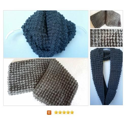 Infinity Cowl #Scarf Crocheted Pewter silvery flecks #Wrap #Accessory #etsy #PromoteEtsy #PictureVideo @SharePicVideo