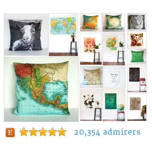 Map pillows, hangry cushions wall decor by @mybeardedpigeon on Etsy  #etsy #PromoteEtsy #PictureVideo @SharePicVideo