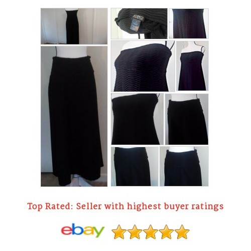 SOHO Apparel Ltd Women's Dress Skirt Convertable Size M Black ZigZag #Maxi SPring | eBay #Dress #SOHOApparelLtd #etsy #PromoteEbay #PictureVideo @SharePicVideo