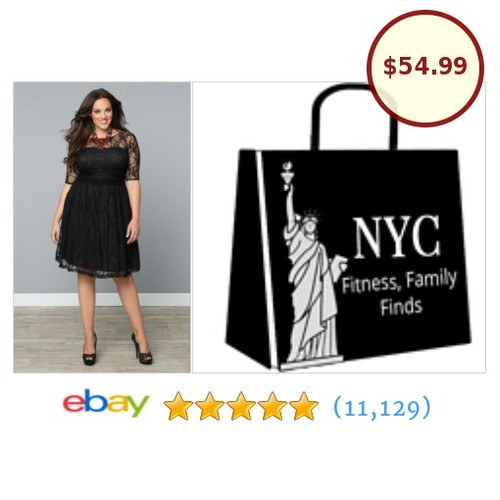 Here's the #PlusSize Black Lace #Party dress you want to wear this weekend! #lookawesome #etsy #PromoteEbay #PictureVideo @SharePicVideo