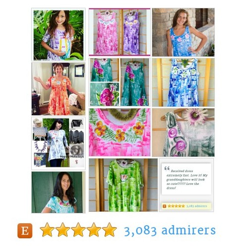 Hawaii Hand Painted Dresses/Cover Ups #hawaiihandmade #etsyfashion #integritytt @Retweet_Lobby @MDFDRetweets  #etsy #PromoteEtsy #PictureVideo @SharePicVideo