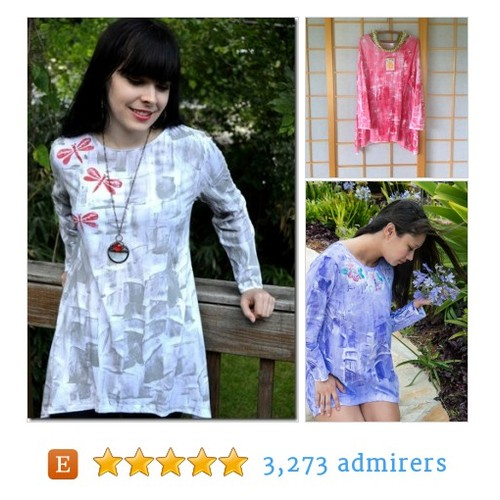 Hand Painted Cotton long sleeved tunic #hawaiimade #etsyfashion #etsymntt @Retweet_Lobby @HyperRTs @MDFDRetweets  #etsy #PromoteEtsy #PictureVideo @SharePicVideo