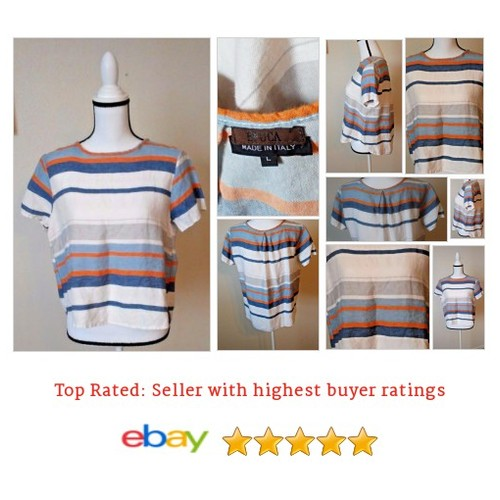 #Epoca Shirt Made in Italy Size Large Spring Summer Fun Striped Picnic Play Date | eBay #Top #Blouse #etsy #PromoteEbay #PictureVideo @SharePicVideo