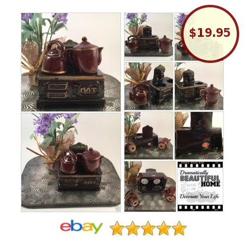 Vtg Figural Dot Cook Stove Salt and Pepper Set Artmart MIJ Japan | eBay  #etsy #PromoteEbay #PictureVideo @SharePicVideo