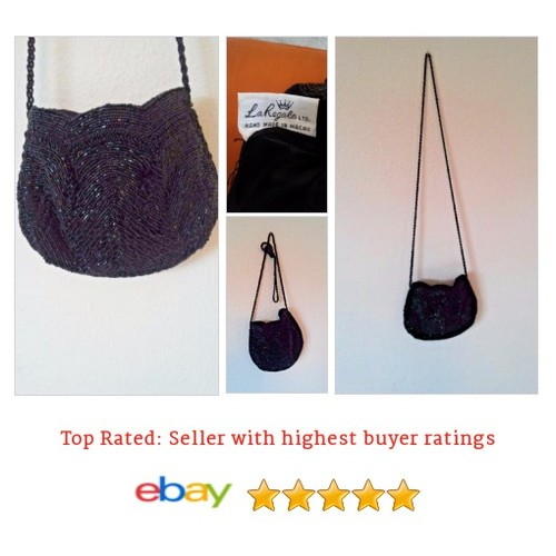 La Regale Ltd Beaded Black Handbag | eBay #Bag #Purse #Clutch #etsy #PromoteEbay #PictureVideo @SharePicVideo
