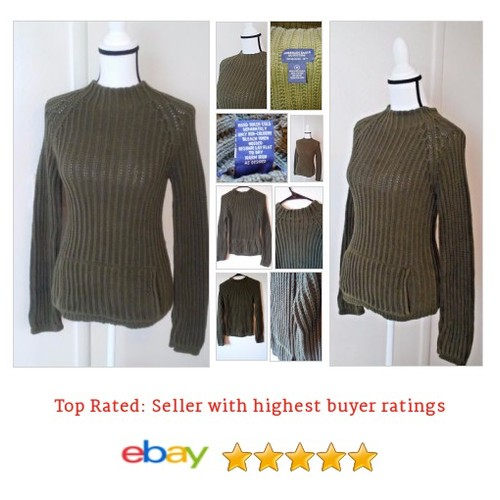 American Eagle outfitters forest green 100% cotton sweater medium handwarmer | eBay #Mock #Sweater #Turtleneck #etsy #PromoteEbay #PictureVideo @SharePicVideo