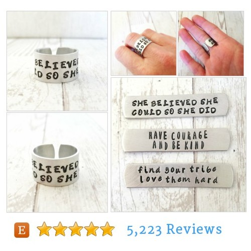She Believed She Could So She Did Ring - #etsy @justjaynes  #etsy #PromoteEtsy #PictureVideo @SharePicVideo