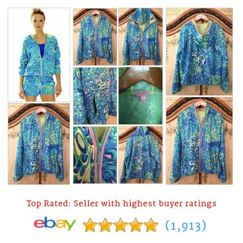 Lillys Lagoon Jacket NWT Lilly Pulitzer XS Gorgeous Windbreaker #ebay @saffordhall  #etsy #PromoteEbay #PictureVideo @SharePicVideo
