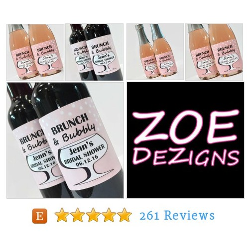 Brunch and Bubbly Bridal Shower Mini #etsy @zoedezigns  #etsy #PromoteEtsy #PictureVideo @SharePicVideo