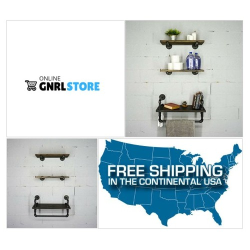 #Jacksonville Farmhouse Industrial Wall shelves... #socialselling #PromoteStore #PictureVideo @SharePicVideo