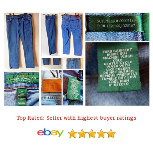 Ralph Lauren Women's Size 8 Slim Fit Jeans Medium Wash Blue Friday Work Picnic #Jeans #RalphLauren #WomensClothing #etsy #PromoteEbay #PictureVideo @SharePicVideo