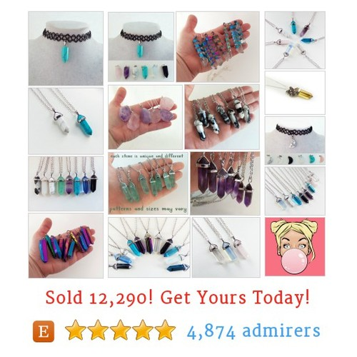 Crystal necklaces Etsy shop #etsy @bubblegumgraff  #etsy #PromoteEtsy #PictureVideo @SharePicVideo