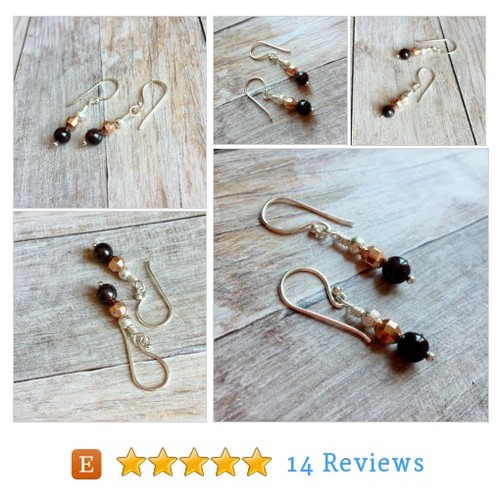 Natural garnet earrings, January baby #etsy @ellies_art  #etsy #PromoteEtsy #PictureVideo @SharePicVideo