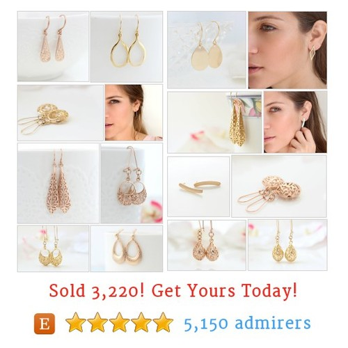 Gold Earrings Etsy shop #goldearring #etsy #PromoteEtsy #PictureVideo @SharePicVideo