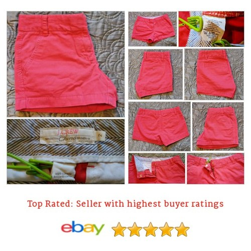 J. Crew Classic 3 inch Broken-In #Chino Shorts: Women's Size 2, Red Solid | eBay #JCrew #Khaki #etsy #PromoteEbay #PictureVideo @SharePicVideo