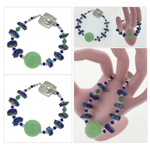 Druzzy and Jade Bracelet with Green Accent by @realchicboutiq #shopify  #socialselling #PromoteStore #PictureVideo @SharePicVideo