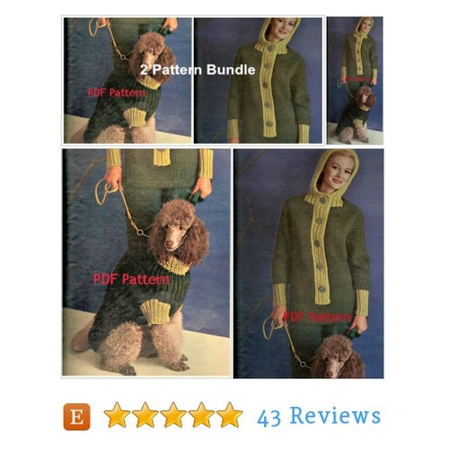 Bundle Matching Dog & Woman's Hooded Bulky #etsy @bubbleguminmail https://www.SharePicVideo.com/?ref=PostPicVideoToTwitter-bubbleguminmail #etsy #PromoteEtsy #PictureVideo @SharePicVideo