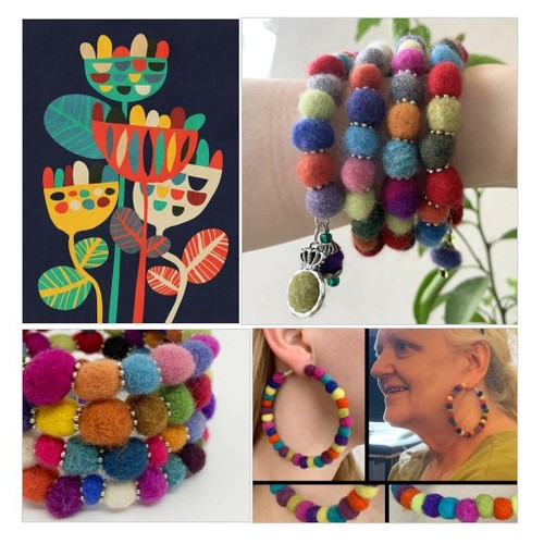 Come see these great jewelry pieces made from tiny wool beads!  Maximalist but very light weight!   RescuedOfferings @Etsy #etsyspecialt  #SpecialTGIF #TMTinsta @BlazedRTs @SGH_RTs @SpxcRTs @SympathyRTs #woolbeads #fashionjewelry #bohochic #maximalist #etsy #PromoteEtsy #PictureVideo @SharePicVideo