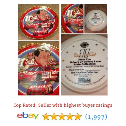 Bill Elliott Budweiser #11 Hamilton Collection Victory Lane Collector #ebay @nashvols  #etsy #PromoteEbay #PictureVideo @SharePicVideo