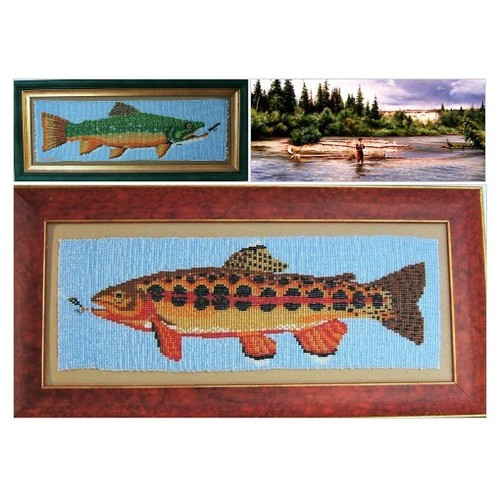 Brown Trout Fish Art Home Decor Wall Hanging Beadwork #etsyspecialt #integritytt #SpecialTGIF #Specialtoo  #SpecialTParty      @SGH_RTs  @OrbiTalRTs @RTFAMDNR #etsy #PromoteEtsy #PictureVideo @SharePicVideo