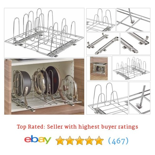 Sliding Pot Organizer Chrome Storage Rack Kitchen Cabinet Steel #ebay @davidsinghiser  #etsy #PromoteEbay #PictureVideo @SharePicVideo