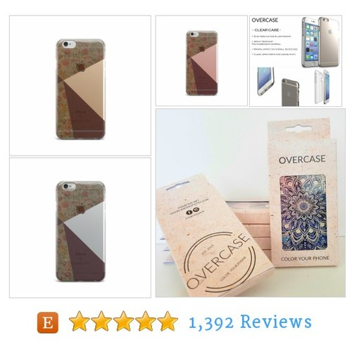 Floral iPhone 7 case, iPhone 6 case Clear, #etsy @overcaseshop  #etsy #PromoteEtsy #PictureVideo @SharePicVideo